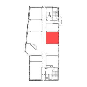 аренда помещения 7 этаж 38 м2