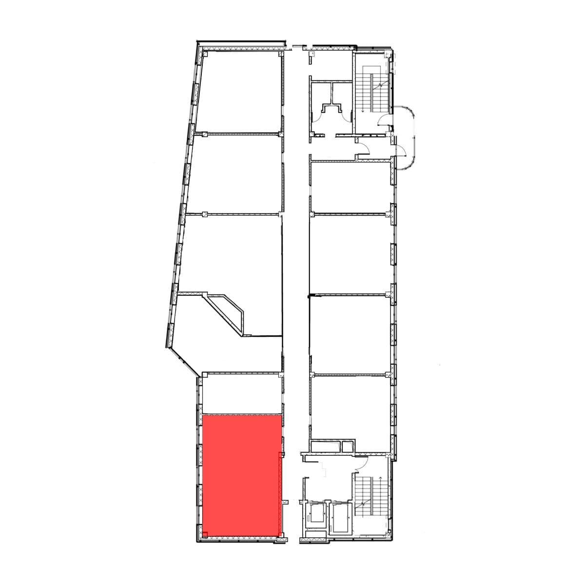 аренда помещения 7 этаж 55 м2