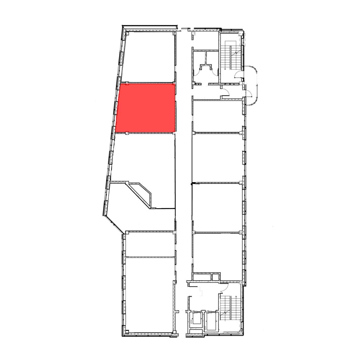 аренда помещения 7 этаж 45 м2