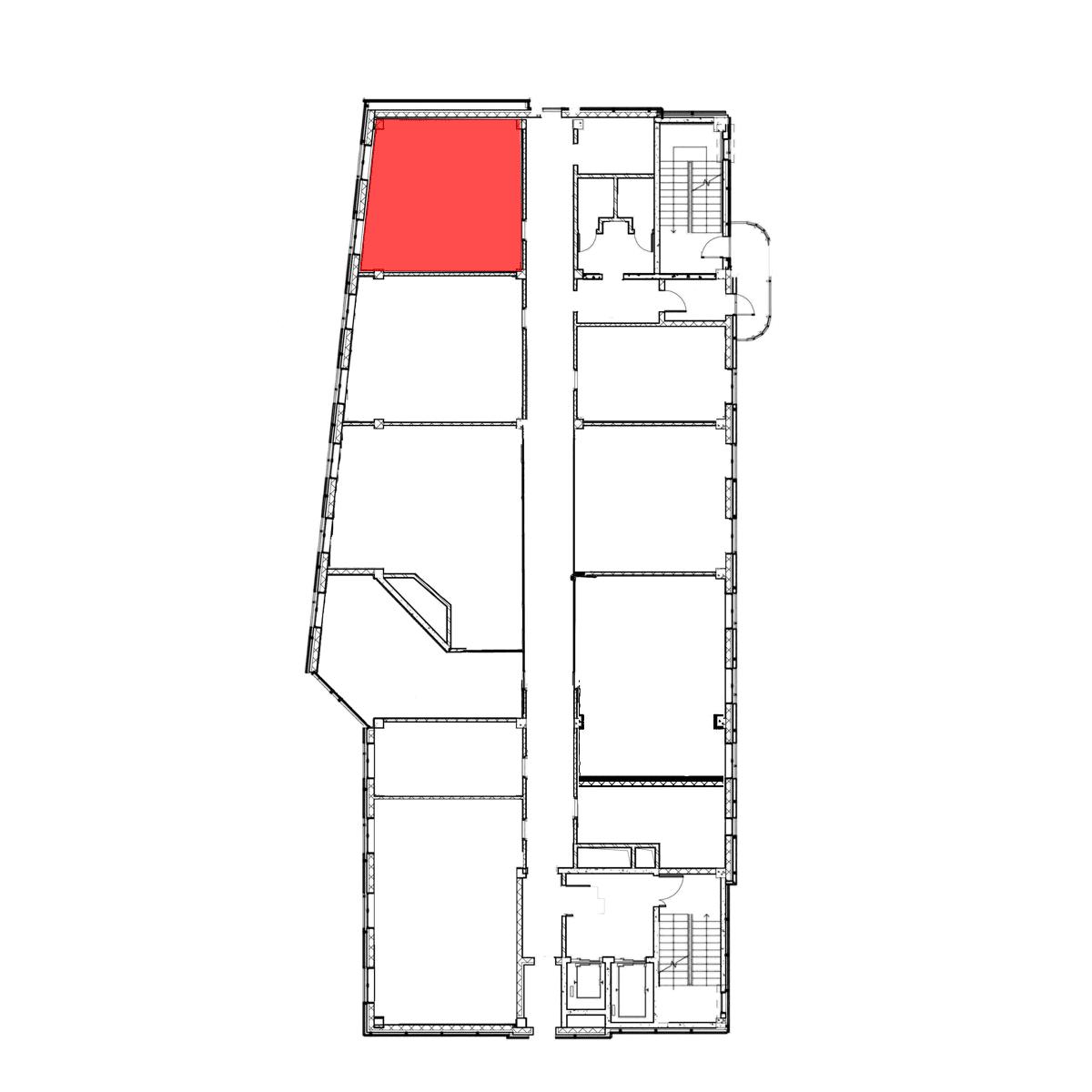аренда помещения 6 этаж 50 м2