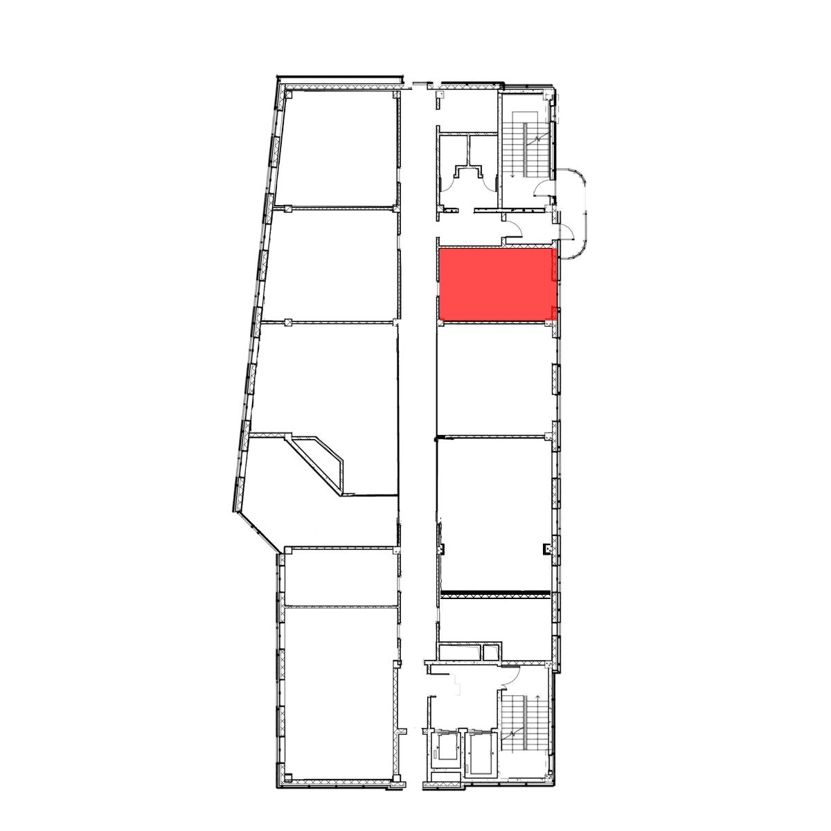 аренда помещения 6 этаж 25,2 м2