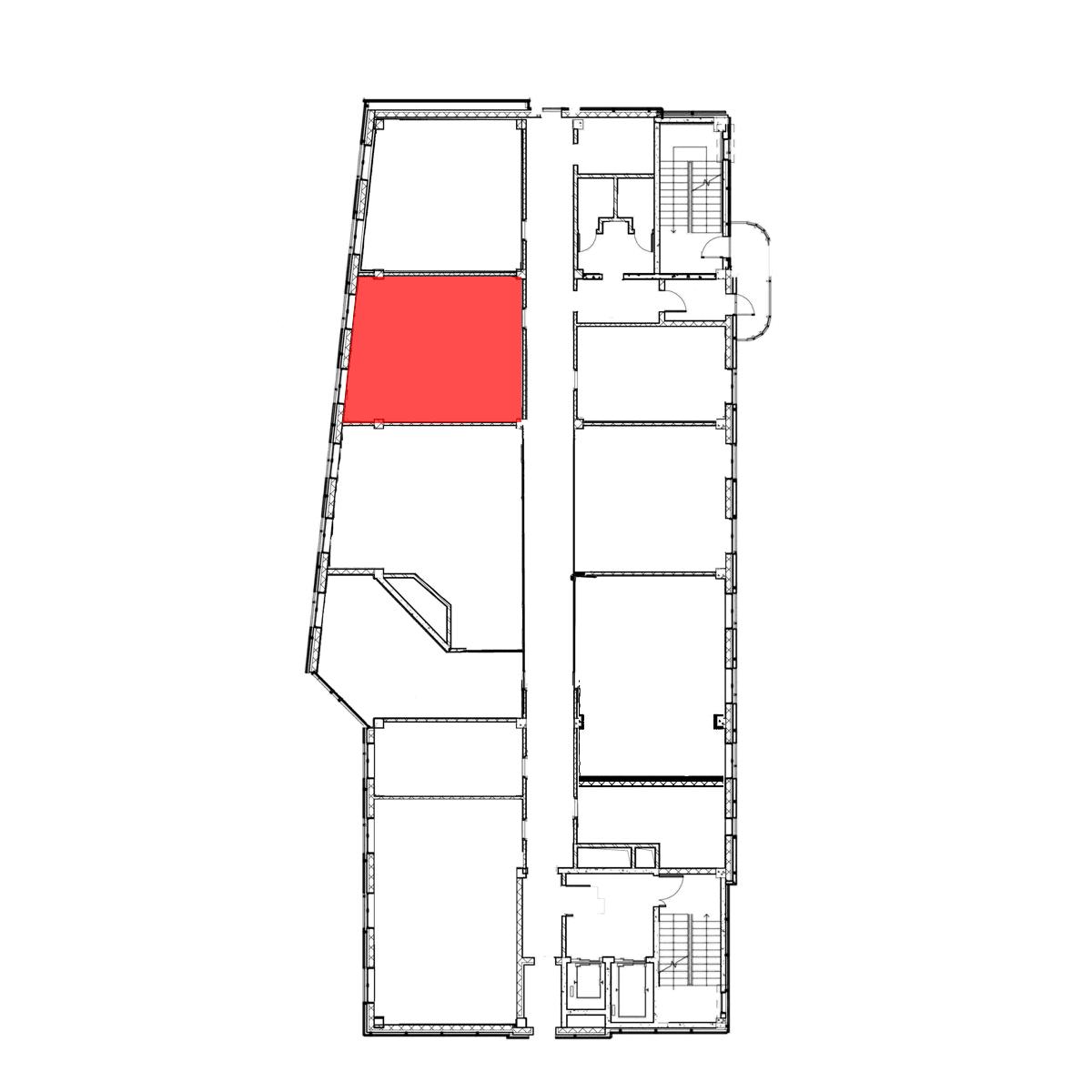 аренда помещения 6 этаж 44,6 м2